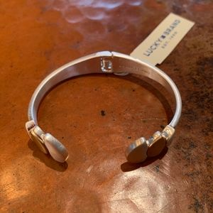 NWT Lucky Brand 2-Tone Cuff Bracelet